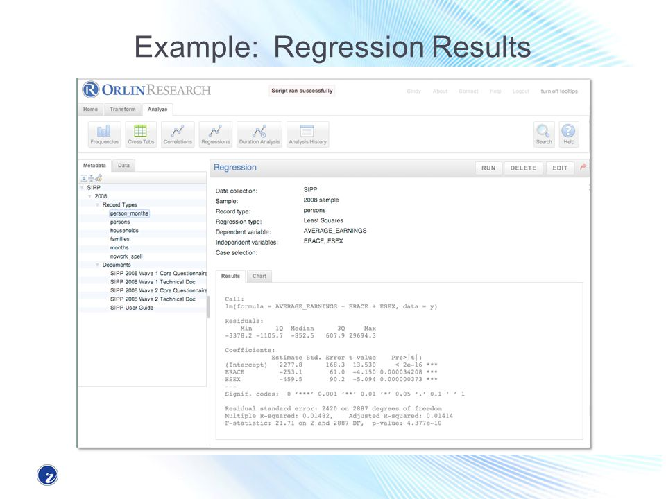 Example: Regression Results