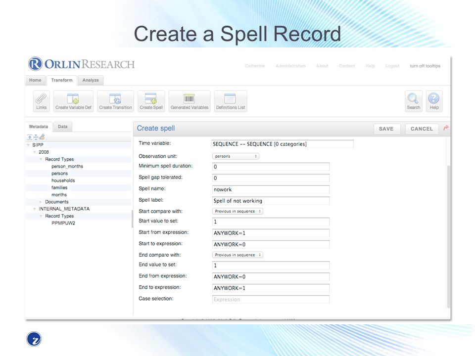 Create a Spell Record