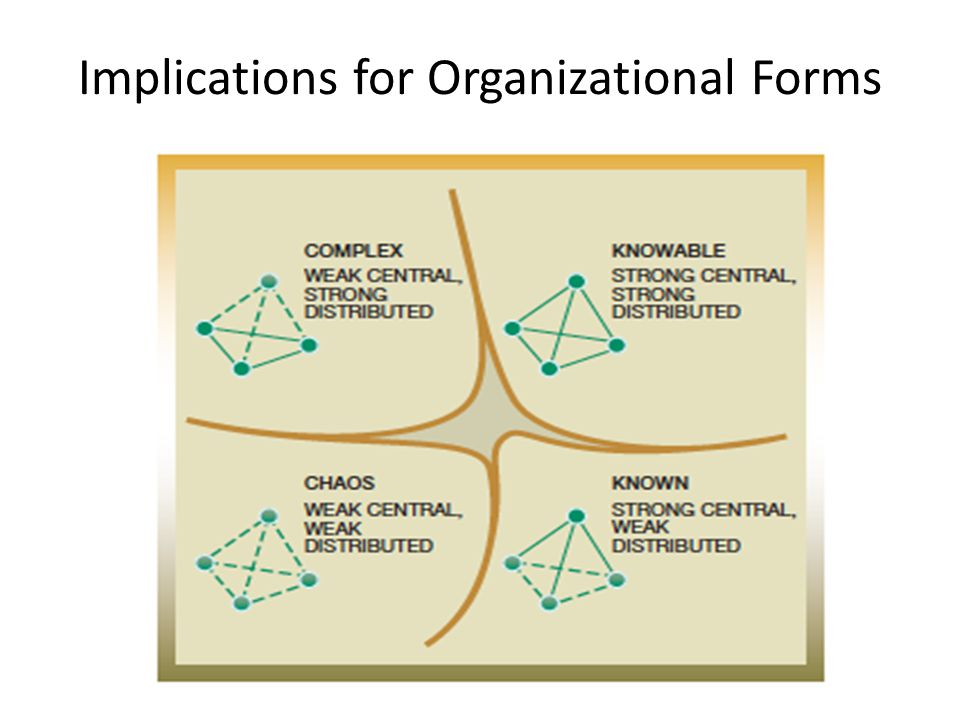 Implications for Organizational Forms