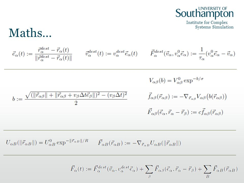Institute for Complex Systems Simulation Maths…