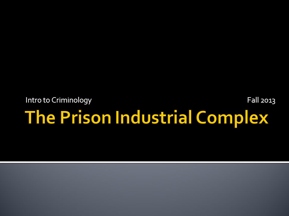 The term prison–industrial complex (PIC) is used to attribute the rapid expansion of the US inmate population to the political influence of private prison companies and businesses that supply goods and services to government prison agencies.