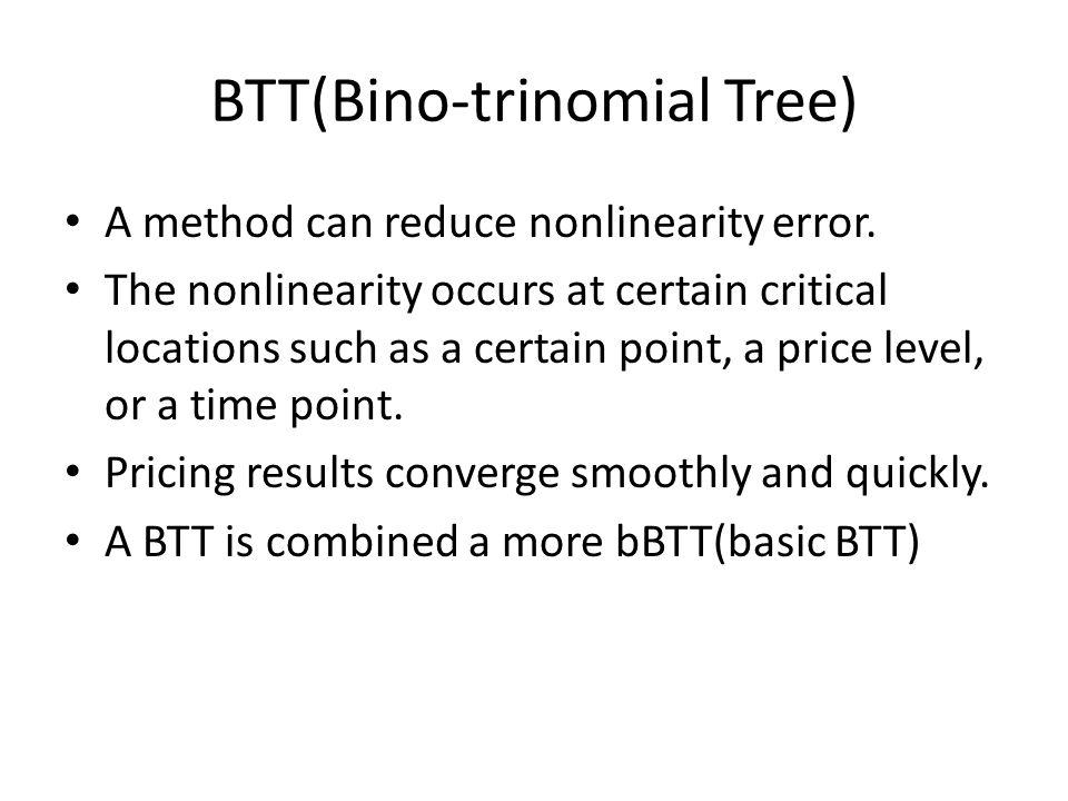 BTT(Bino-trinomial Tree) A method can reduce nonlinearity error.