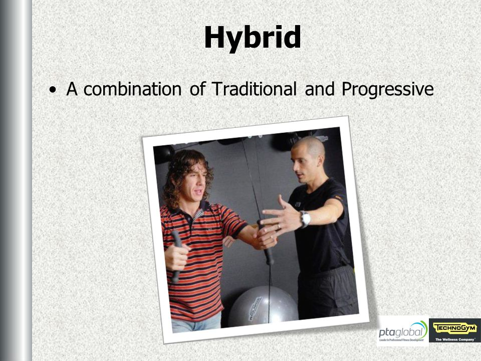 Hybrid A combination of Traditional and Progressive
