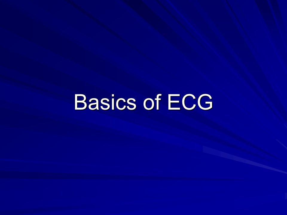 Objectives 1.What is an ECG 2. ECG indications 3.