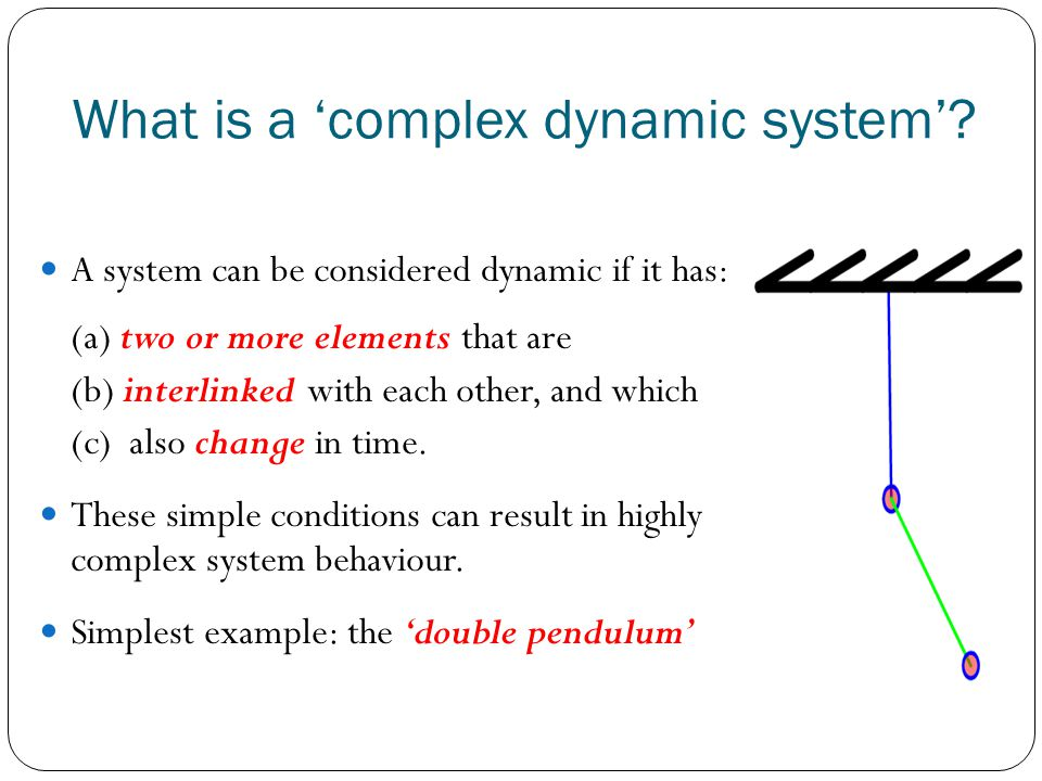 What is a complex dynamic system.