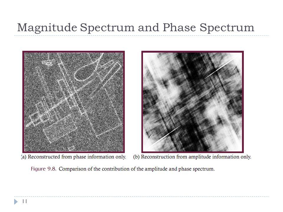 Magnitude Spectrum and Phase Spectrum 11