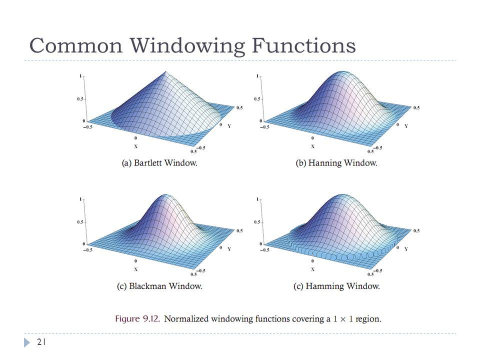 Common Windowing Functions 21