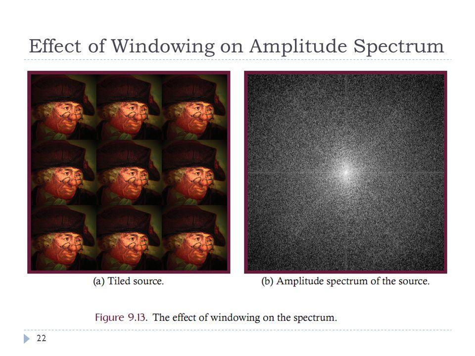 Effect of Windowing on Amplitude Spectrum 22