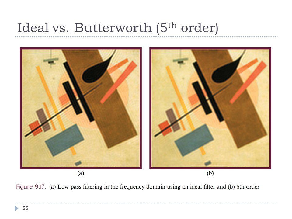 Ideal vs. Butterworth (5 th order) 33