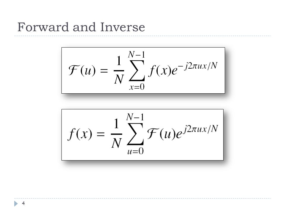Forward and Inverse 4