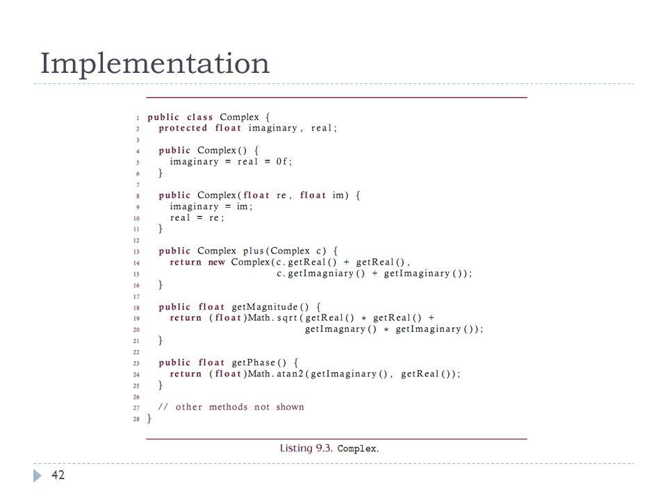 Implementation 42