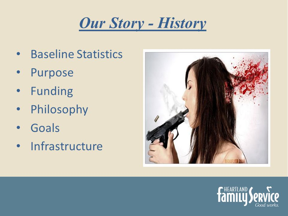 Baseline Statistics Purpose Funding Philosophy Goals Infrastructure Our Story - History