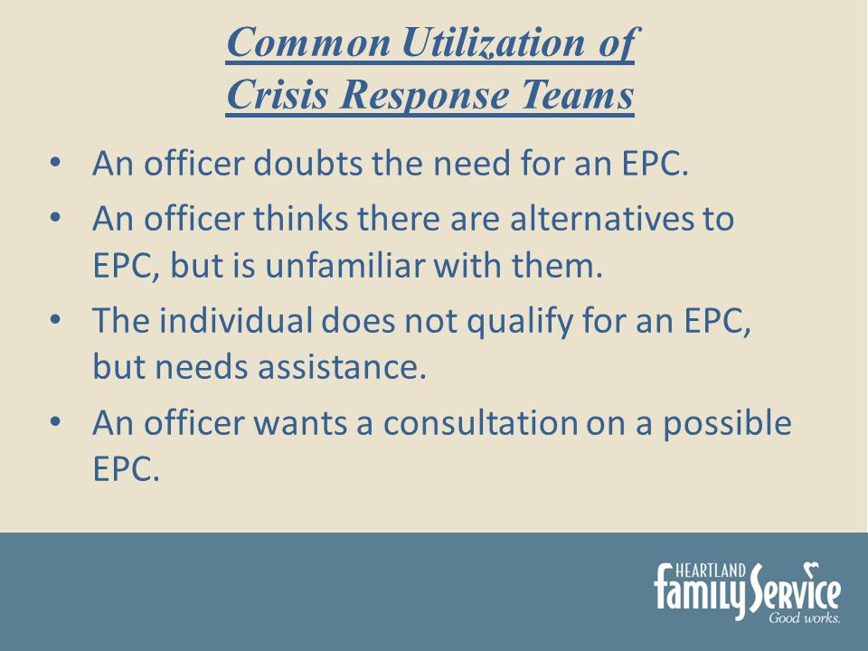 An officer doubts the need for an EPC.