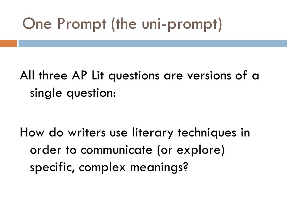Question 3 and The Uni-Prompt However, Q3 seems different, and in some ways it is.