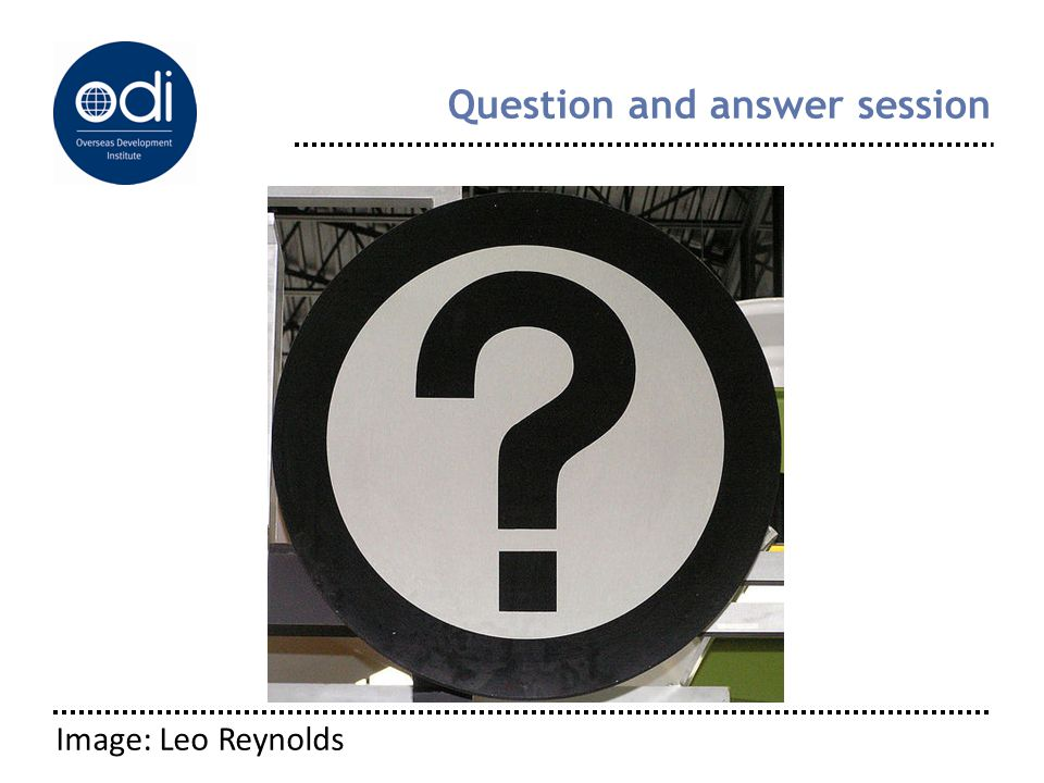 Question and answer session Image: Leo Reynolds
