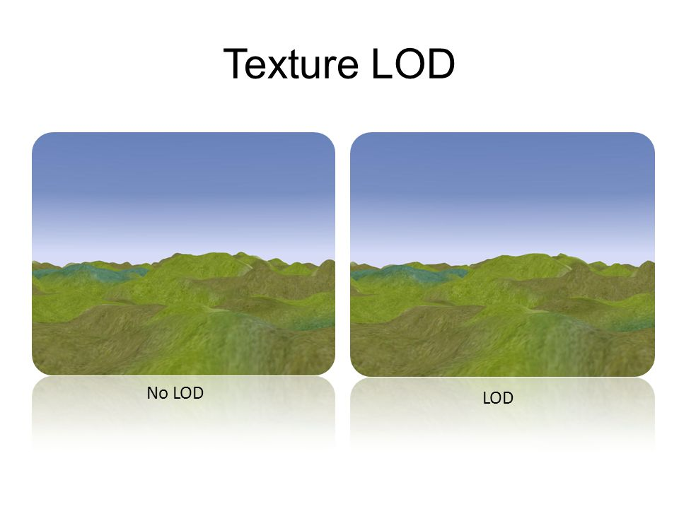 Texture LOD No LOD LOD