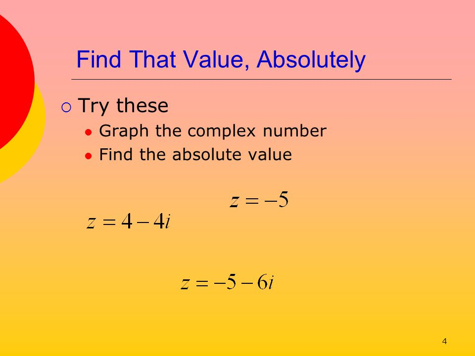 5 Trig Form of Complex Number Consider the graphical representation We note that a right triangle is formed a + bi θ b a r How do we determine θ?