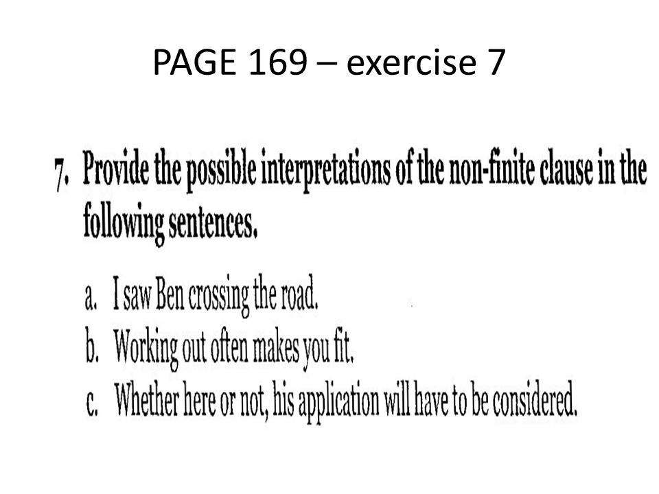 PAGE 169 – exercise 7