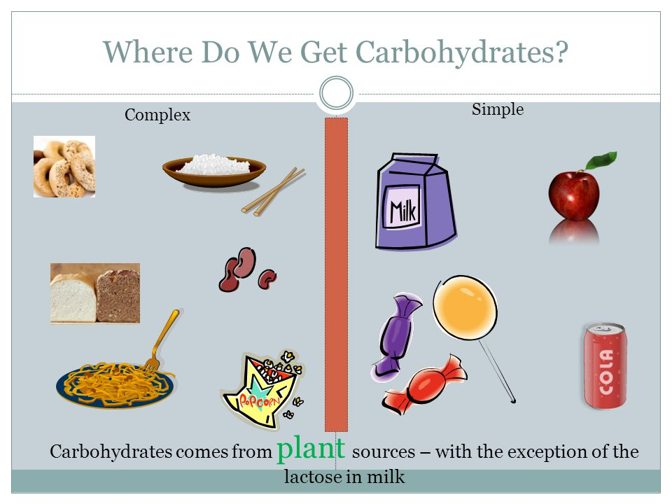 Where Do We Get Carbohydrates.