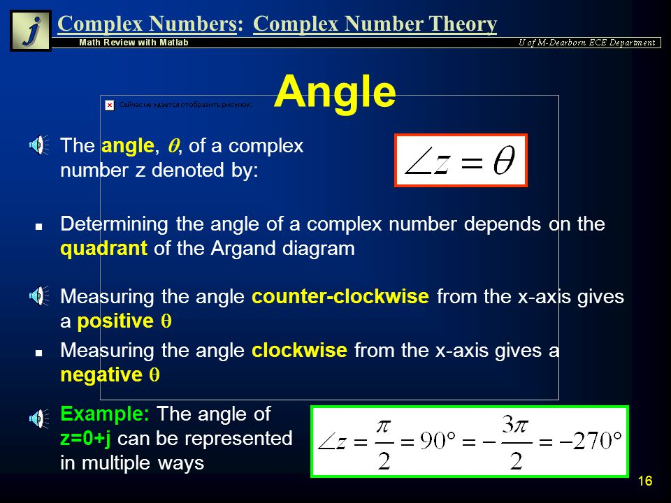 Complex Numbers:Complex Number Theory 15 Magnitude n Through use of the Pythagorean theorem, the Magnitude (radius) of a complex number always has the