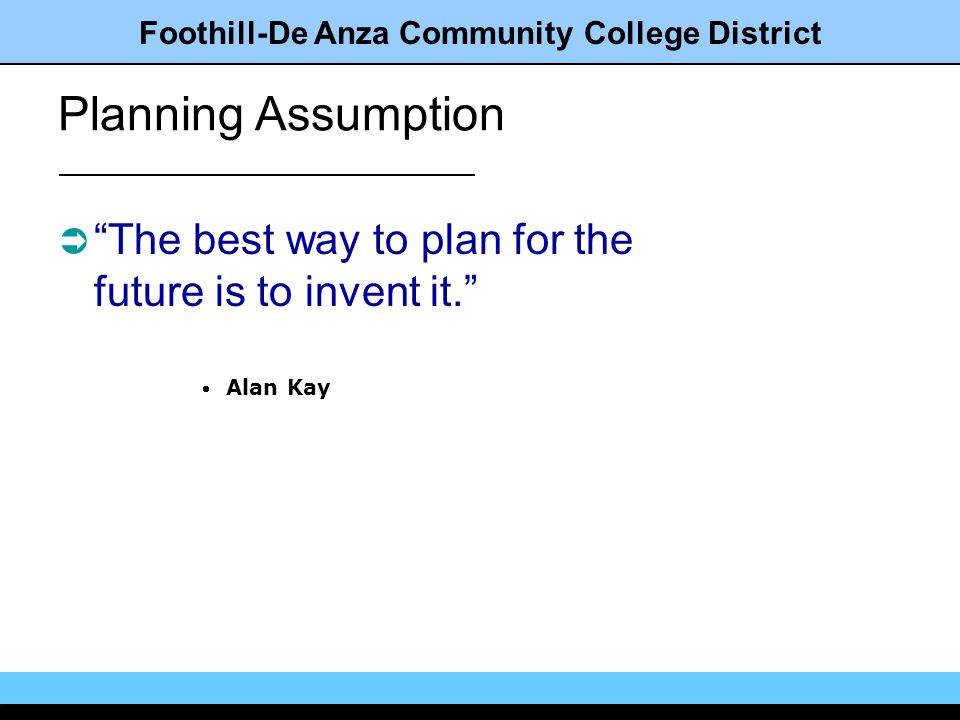 Foothill-De Anza Community College District Whats next?