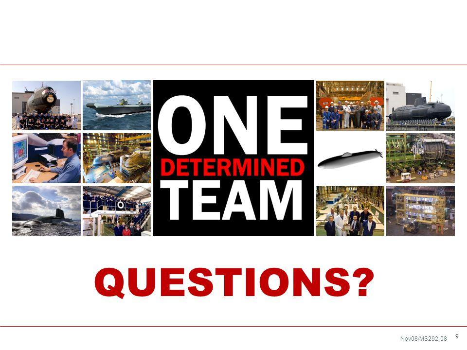 Nov08/MS292-08 9 QUESTIONS