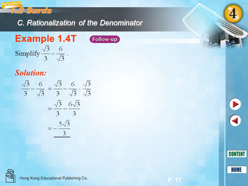 P.18 1.3 Complex Number System In Section 1.1, we learnt that A.