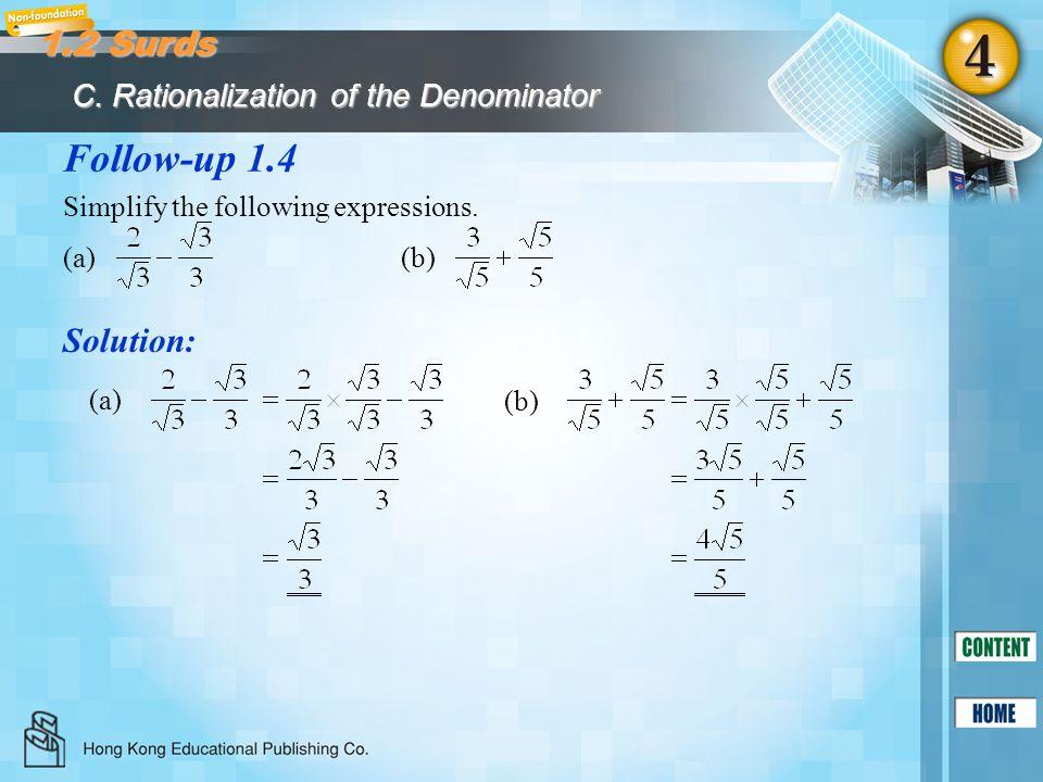Follow-up 1.5 Solution: Simplify (5 2i)(7 3i) 3(2 5i).