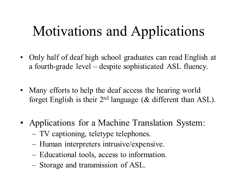 Transfer Issues for ASL ASL Discourse Model: topics, referents in space.