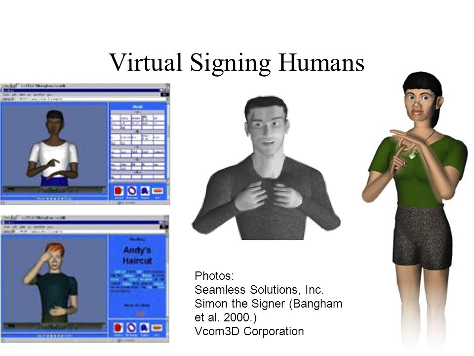 Virtual Signing Humans Photos: Seamless Solutions, Inc.