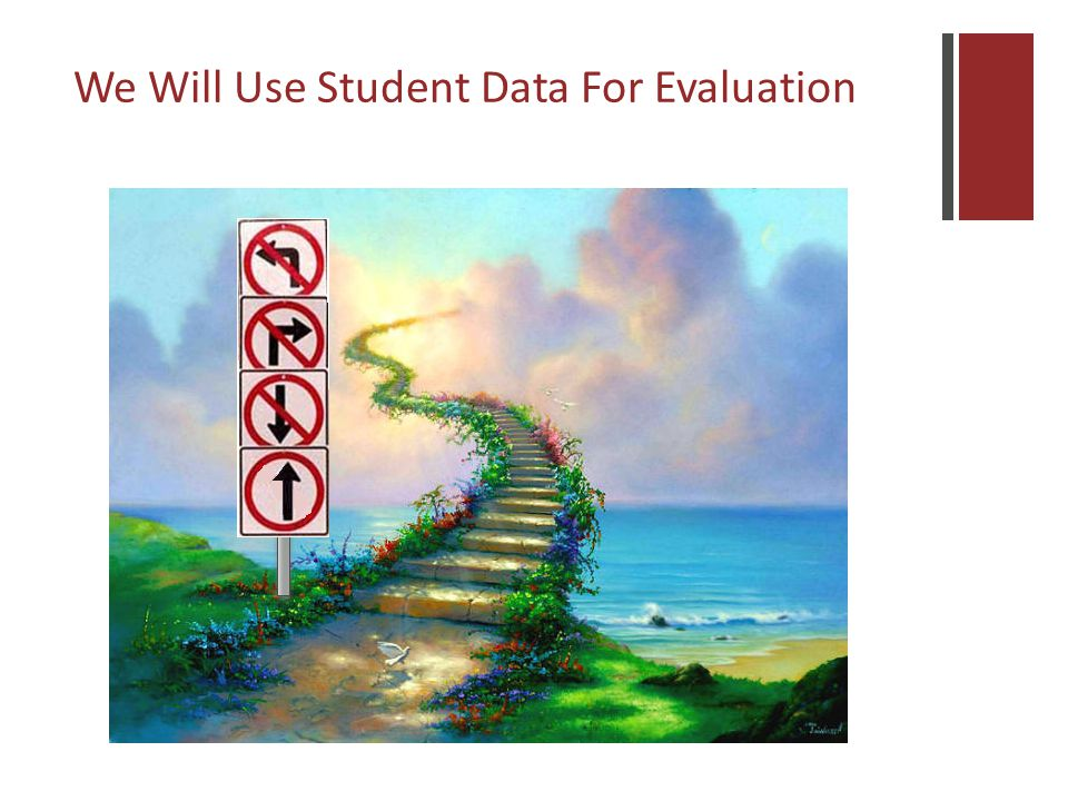 We Will Use Student Data For Evaluation