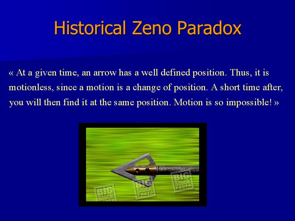 Historical Zeno Paradox