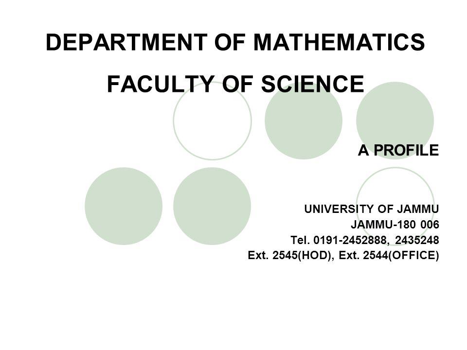 B.Past Faculty Members M.R. Puri: England, USA J.S.