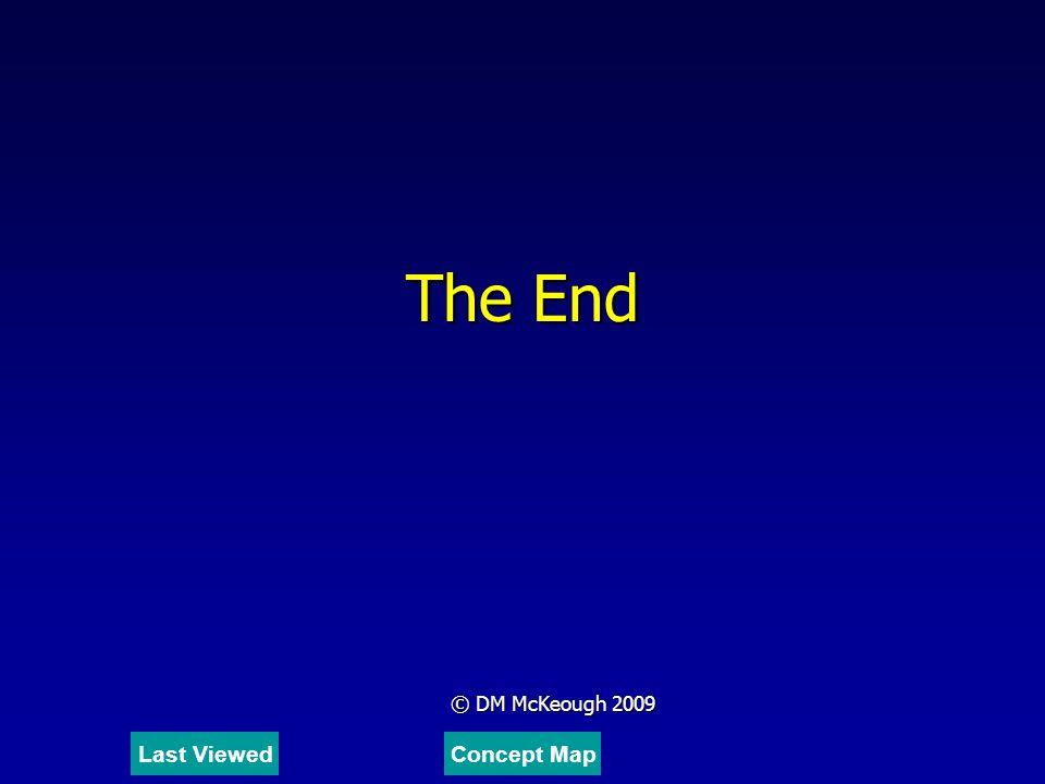 The End © DM McKeough 2009 Last ViewedConcept Map