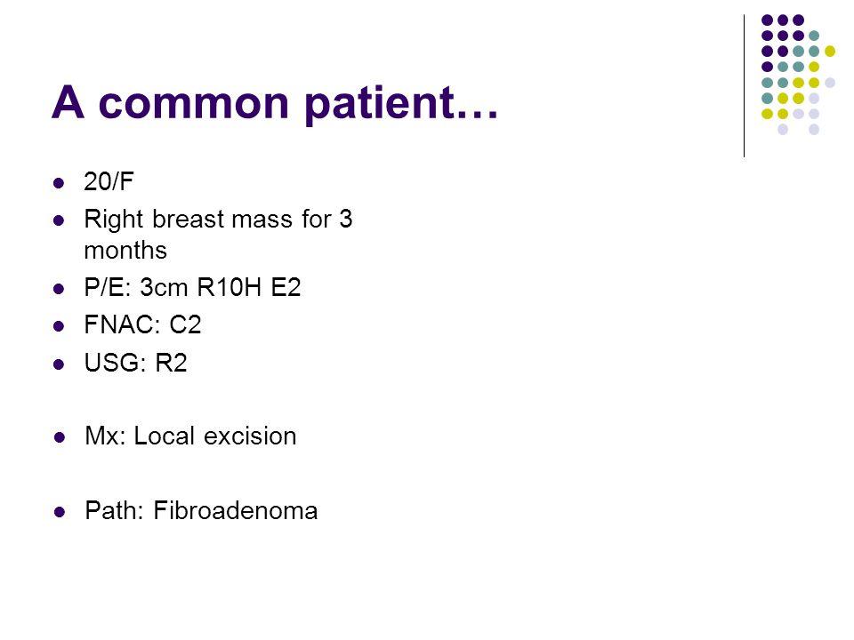 Management of fibroadenoma Options: 1.Conservative 2.
