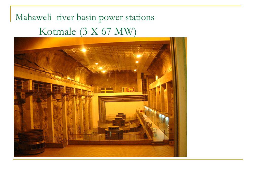 Mahaweli river basin power stations Kotmale (3 X 67 MW)