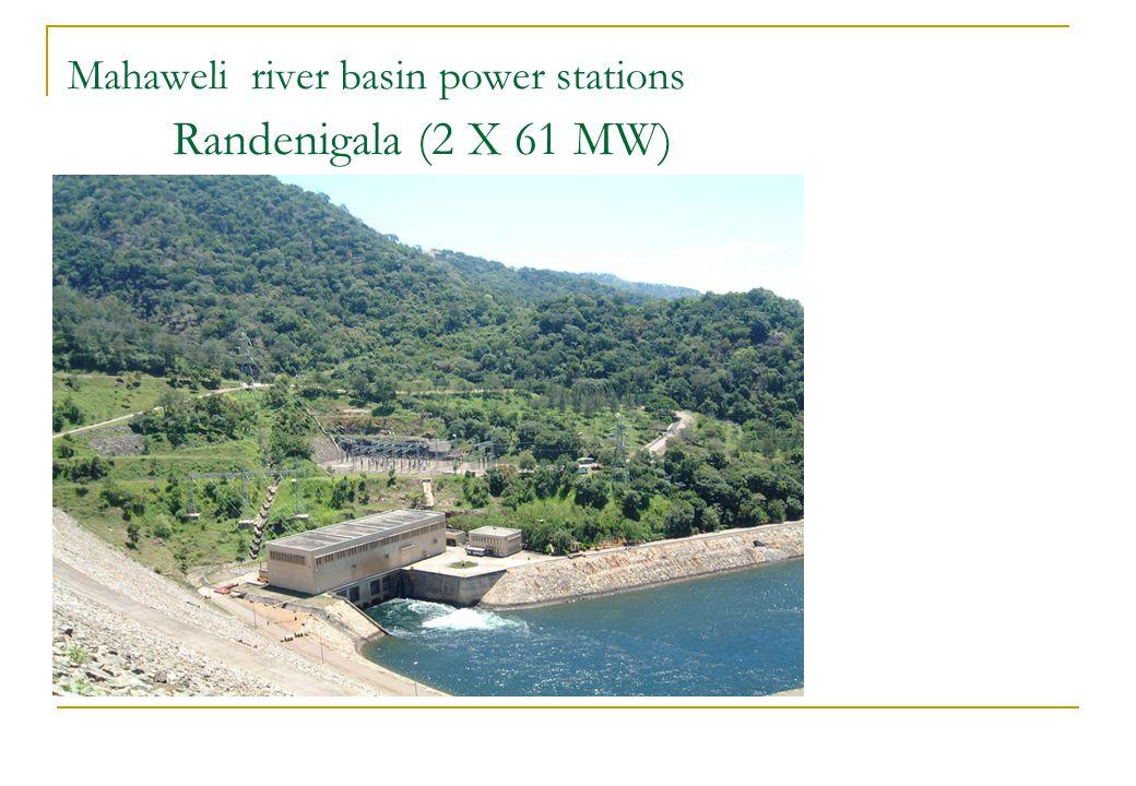 Mahaweli river basin power stations Randenigala (2 X 61 MW)