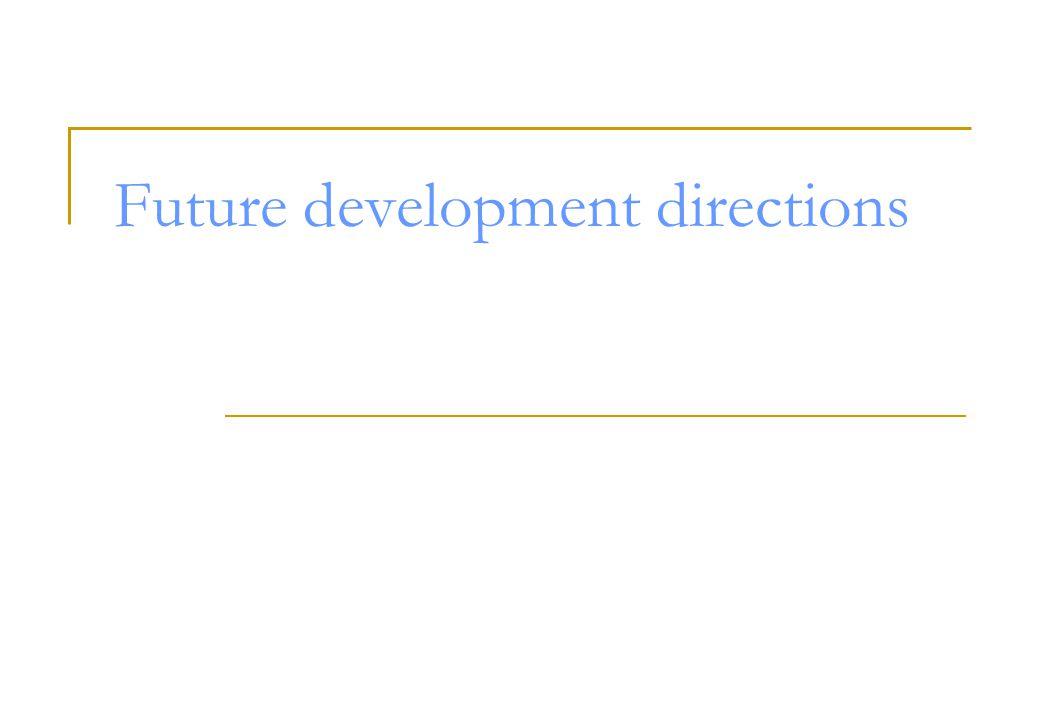 Future development directions