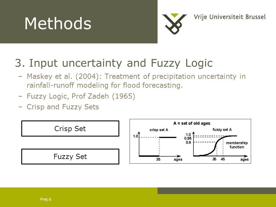 Pag. 8 Methods 3. Input uncertainty and Fuzzy Logic –Maskey et al.