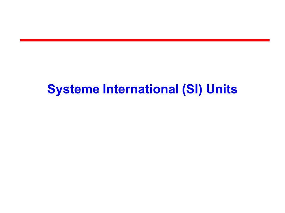 Systeme International (SI) Units