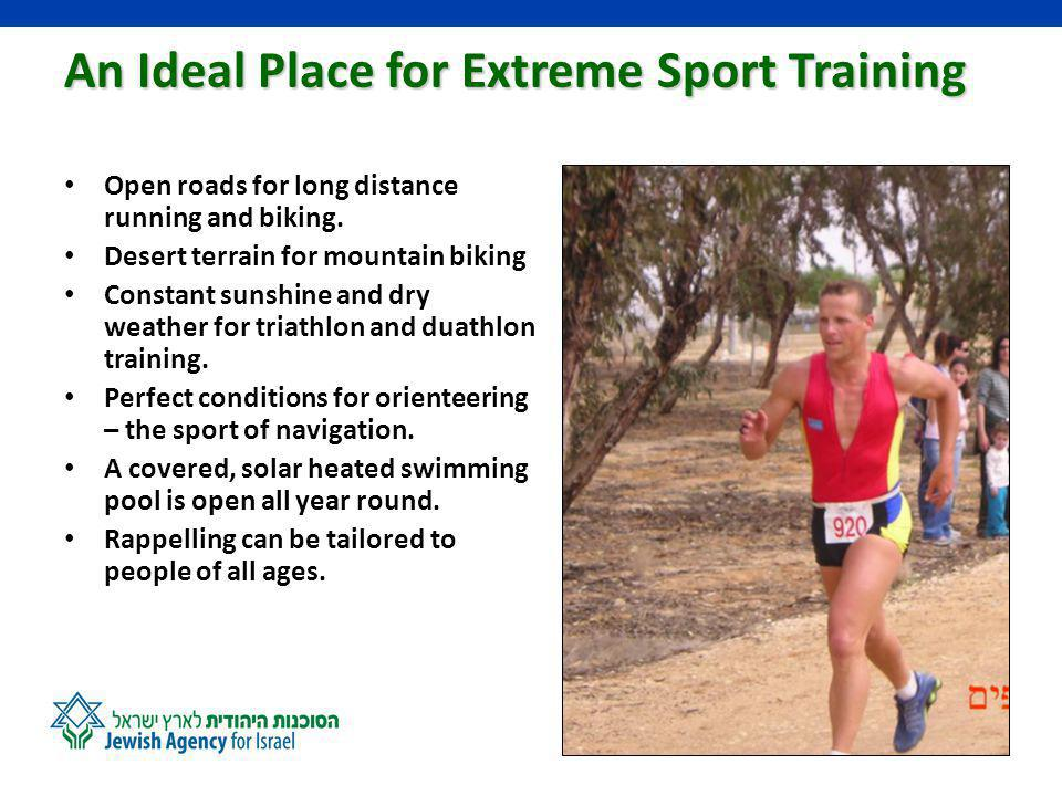 Our Educational Sports Activities Schools, youth movements, soldiers, students on long and short-term programs in Israel, and visitors from all over the world take part in Nitzanas educational sports activities: 1.Endurance Sports Seminars – studying physiology and the effects of stress 2.
