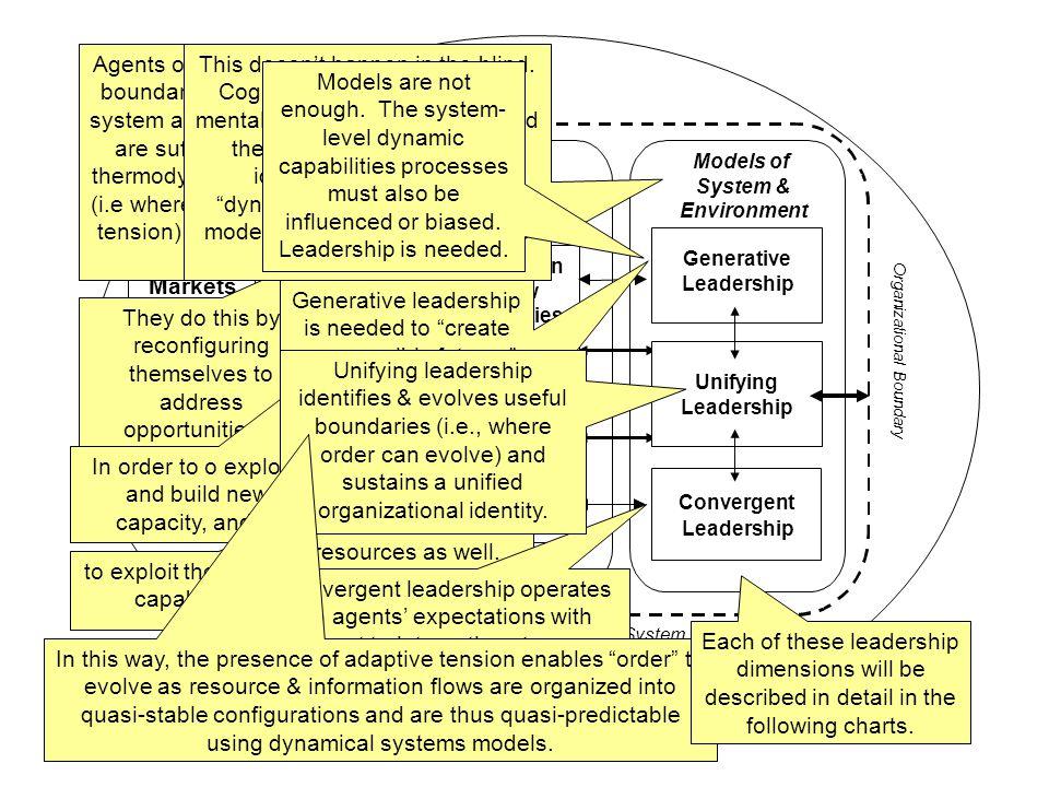 © Copyright 2007 James K. Hazy – All rights reserved 4 Organizational System Exploration & New Capabilities Building Exploitation of Existing Capabili