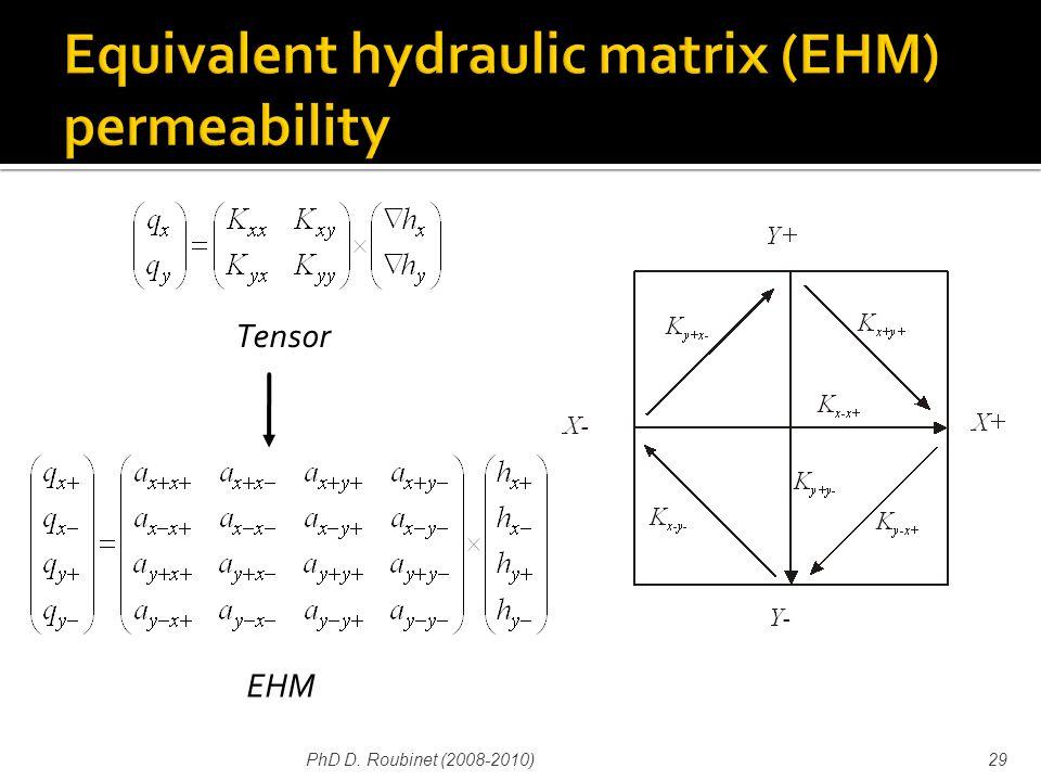 PhD D. Roubinet (2008-2010)29 Tensor EHM