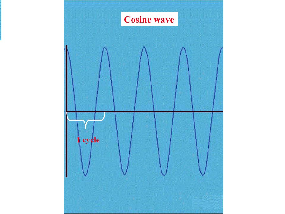 Cosine wave 1 cycle