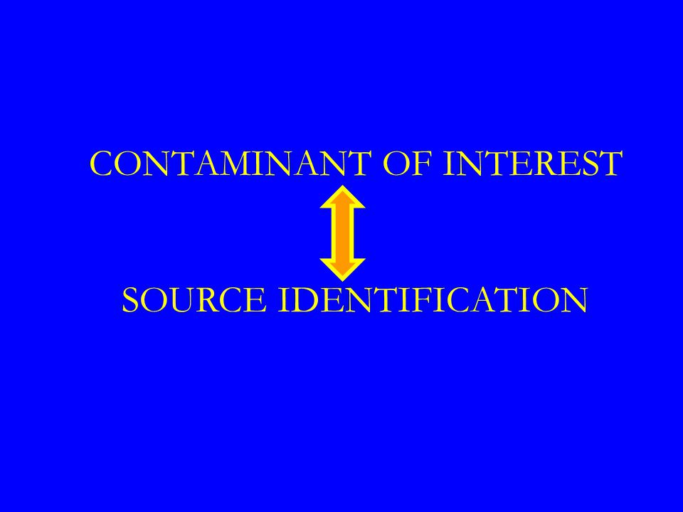 CONTAMINANT OF INTEREST SOURCE IDENTIFICATION