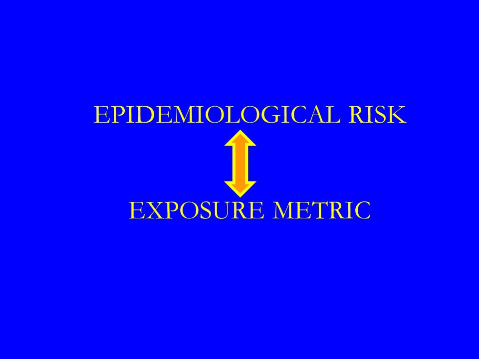 EPIDEMIOLOGICAL RISK EXPOSURE METRIC