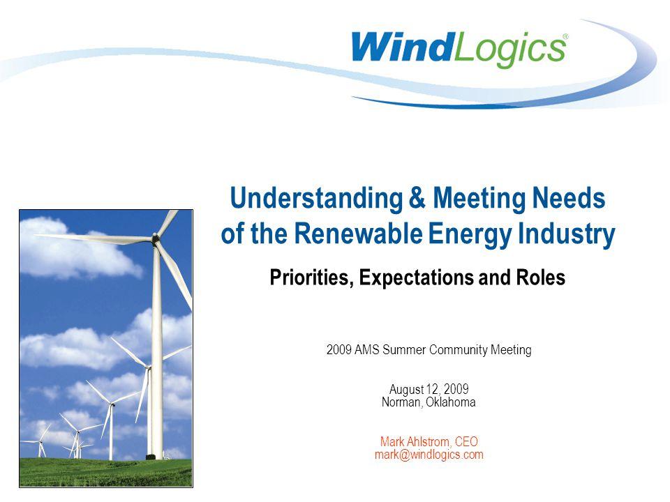12 Copyright 2008, WindLogics Inc.