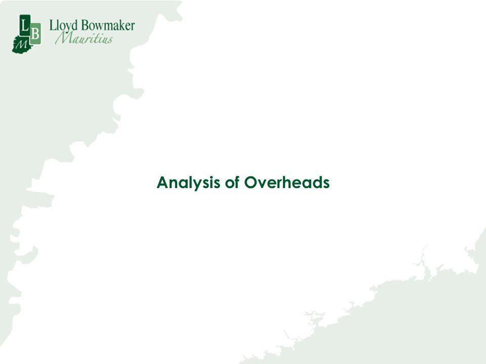 Analysis of Overheads