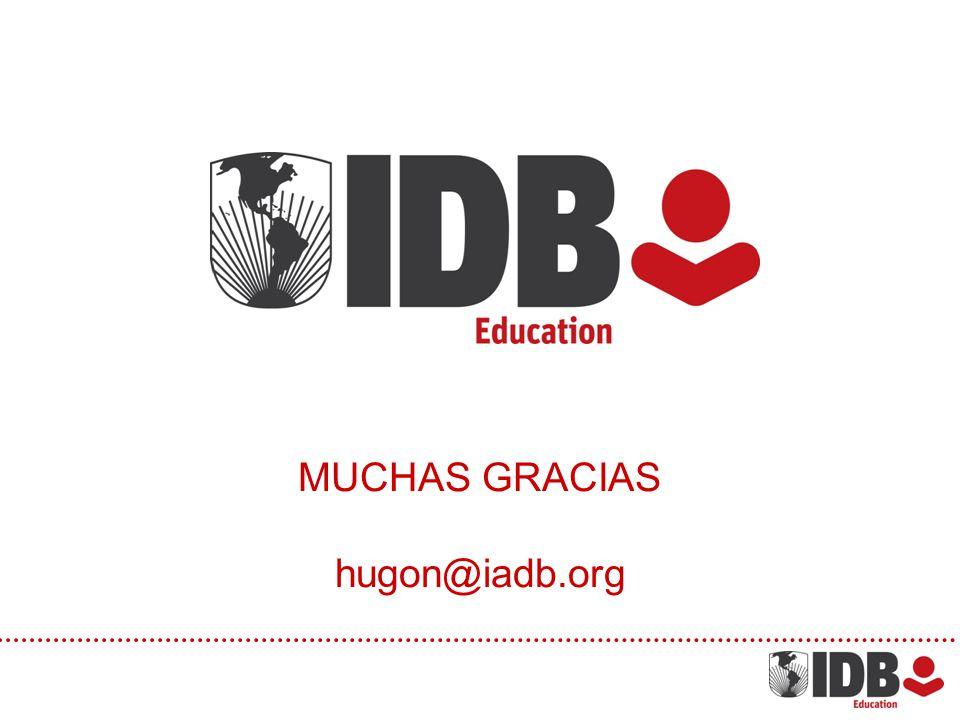 MUCHAS GRACIAS hugon@iadb.org