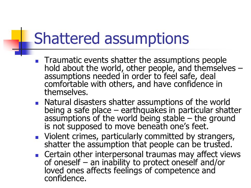 Disorganised attachment fright without solution When parent is the source of danger (as well as its only solution - approach/avoidance conflict As a result of severe trauma But also as a result of frightened/frightening/dissociative faces (2nd generation unresolved loss/trauma) Become controlling children (punitive/parentified or solicitous) -- aggressive, BPD/DD adults?